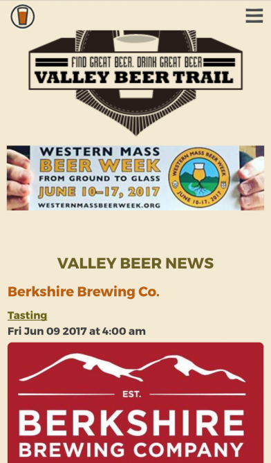 Valley Beer Trail, Events Listing